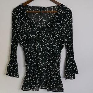 NWOT New Directions Woman Polkadot Top Size 1X
